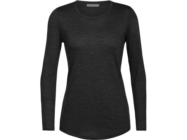 Icebreaker Sphere LS Low Crew Shirt Women, black heather